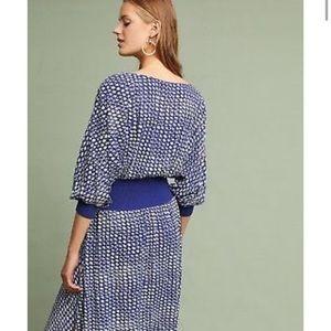 NWT Maeve Gemma royal blue print dress